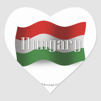 Hungary Waving Flag Heart Sticker