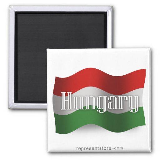 Hungary Waving Flag Magnets
