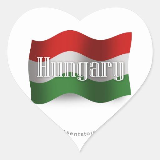 Hungary Waving Flag Stickers