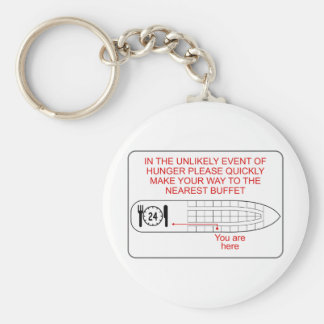 Hunger Emergency Basic Round Button Key Ring
