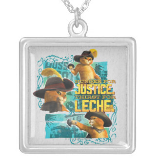 Hunger For Justice Square Pendant Necklace