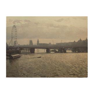 Hungerford Bridge from Waterloo Bridge Wood Print