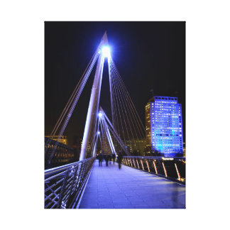 Hungerford Bridge, Thames, London - Photo Canvas Gallery Wrap Canvas