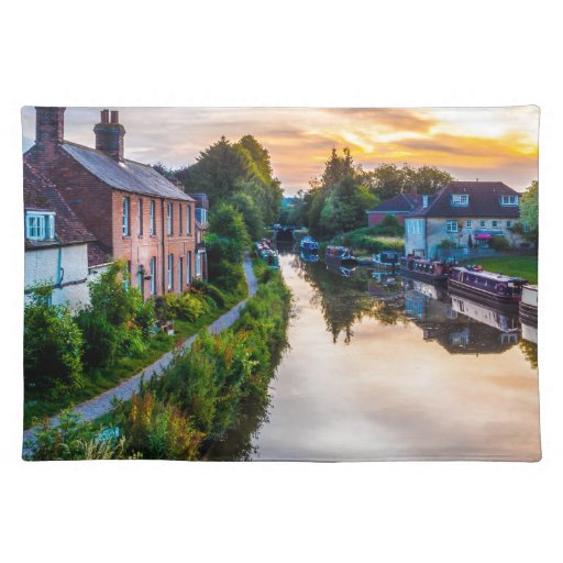 Hungerford Canal Sunset Place Mat
