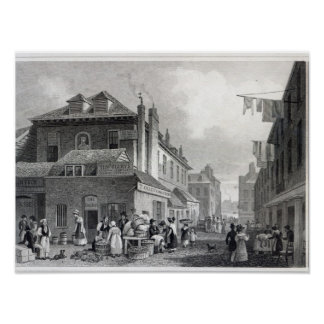 Hungerford Market, Strand, engraved Thomas Poster