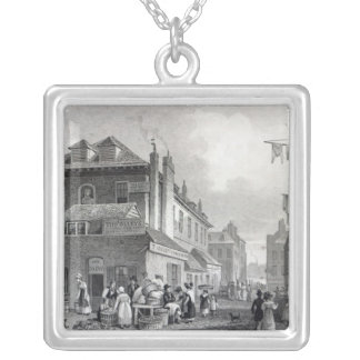 Hungerford Market, Strand, engraved Thomas Silver Plated Necklace