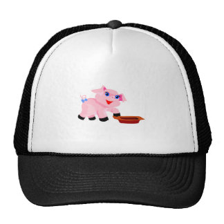 hungry baby piglet trucker hats