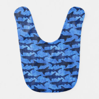 Hungry Baby School of Sharks Funny Feed Me Bib
