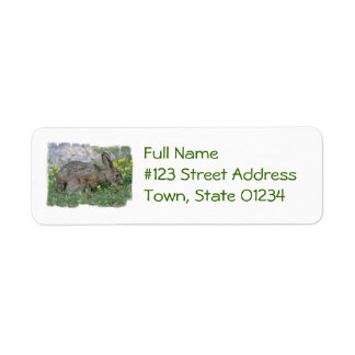 Hungry Bunny Mailing Labels