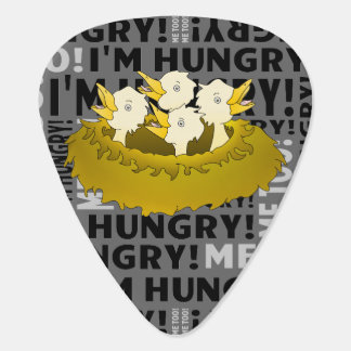Hungry Chicks in a Nest Guitar Pick