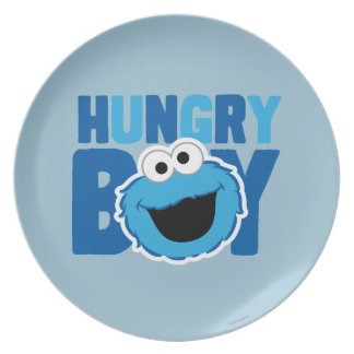 Hungry Cookie Monster Plate