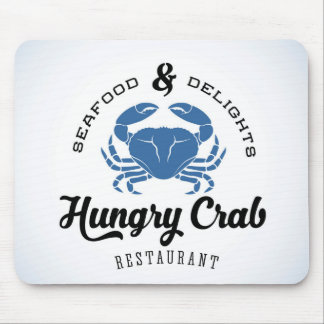 Hungry Crab Restaurant Poster Mouse Pad