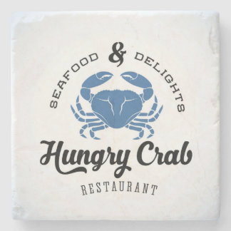 Hungry Crab Restaurant Poster Stone Coaster