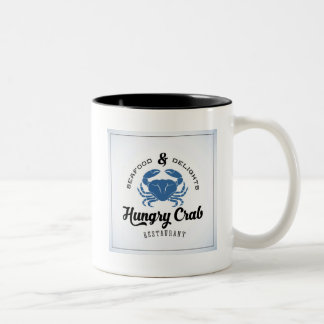 Hungry Crab Restaurant Poster Two-Tone Coffee Mug