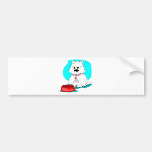 Hungry dog & empty dish bumper stickers