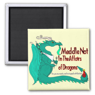 Hungry Dragon Square Magnet