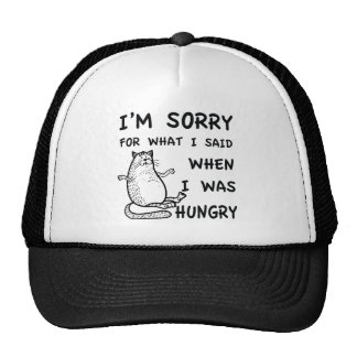 Hungry Fat Cat Funny Trucker Hat