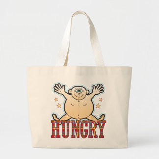 Hungry Fat Man Large Tote Bag