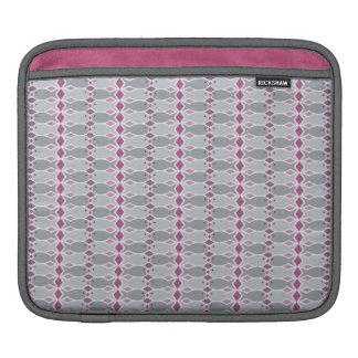 Hungry Fish Gray and Pink Rickshaw iPad Sleeve
