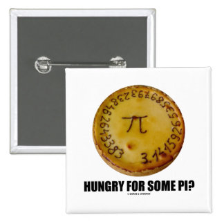 Hungry For Some Pi? (Pi Pie Math Constant Humor) 15 Cm Square Badge