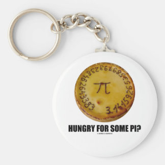 Hungry For Some Pi? (Pi Pie Math Constant Humor) Key Chains