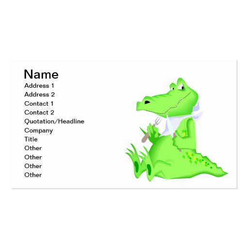 Hungry Gator Business Card Templates