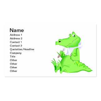 Hungry Gator Pack Of Standard Business Cards