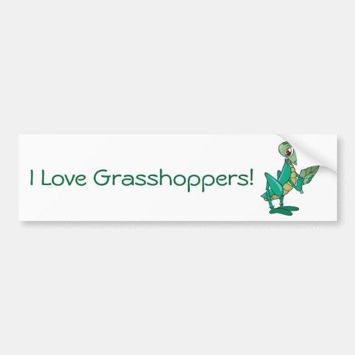 Hungry Grasshopper Bumper Stickers