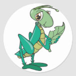 Hungry Grasshopper Round Stickers