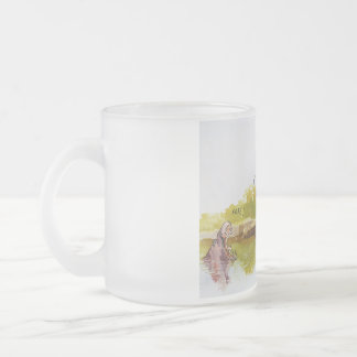 Hungry Hippo Frosted Glass Mug