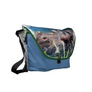 Hungry Hippo Messenger Bag