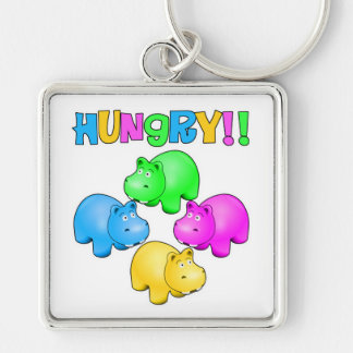 Hungry Hippopotamuses  Design Keychain