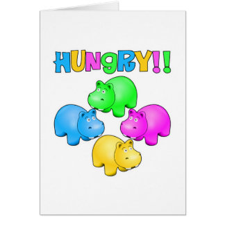 Hungry Hippos Greeting Card