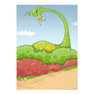 hungry hungry brontosaurus scene personalized announcement