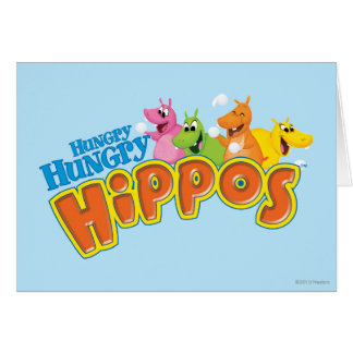Hungry Hungry Hippos Greeting Card