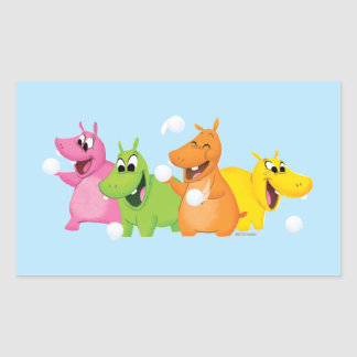 Hungry Hungry Hippos Rectangular Sticker