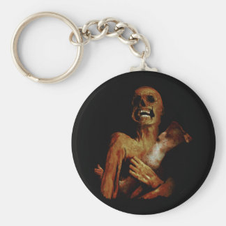 Hungry Hungry Zombie Basic Round Button Key Ring