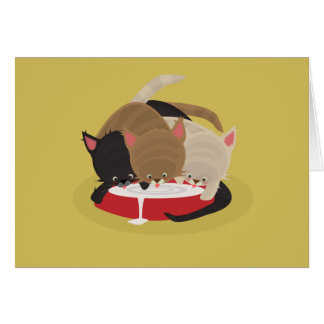 Hungry Kittens. Card