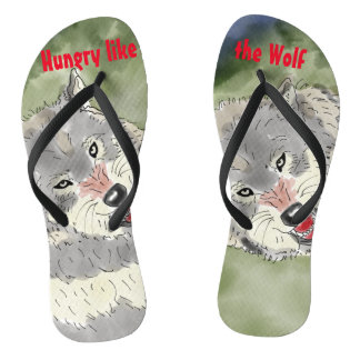 Hungry like the Wolf Flip Flops