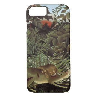 Hungry Lion by Henri Rousseau, Vintage Wild Animal iPhone 8/7 Case