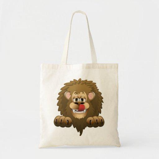 Hungry Lion Cartoon Tote Bag