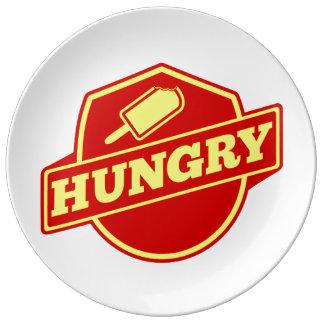 Hungry Logo Porcelain Plate