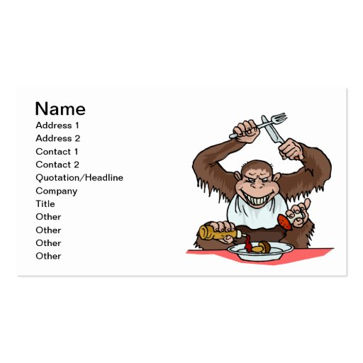 Hungry Monkey Business Card Template