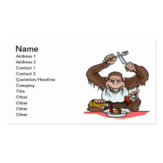 Hungry Monkey Pack Of Standard Business Cards