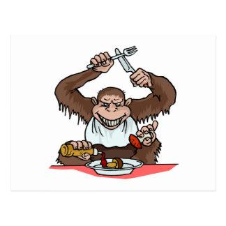 Hungry Monkey Postcard