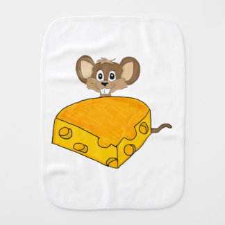 Hungry mouse burp cloth