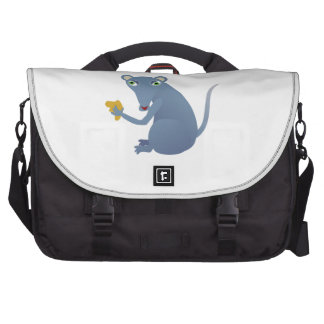 Hungry mouse cartoon commuter bags