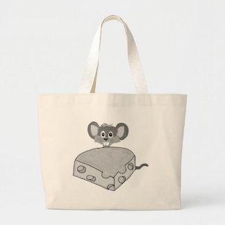 Hungry mouse large tote bag