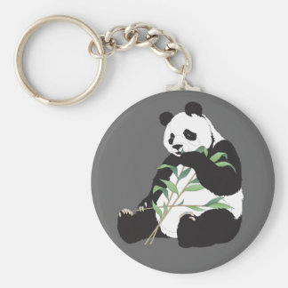 Hungry Panda Basic Round Button Key Ring