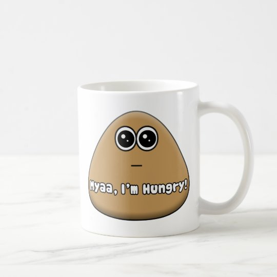 Hungry Pou w/ Text Coffee Mug